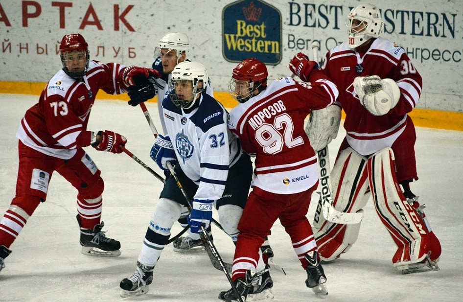 MHL FIRST STAR OF THE DAY. ALEXEI TOROPCHENKO NETS A HAT-TRICK ON MHC SPARTAK